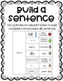 Build A Sentence - Great for ELLs and reluctant writers