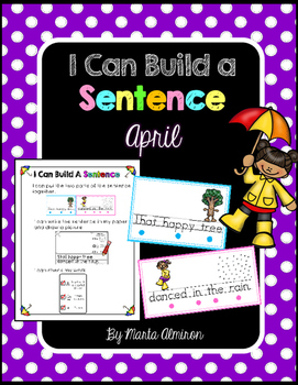 Build A Sentence for Beginner Writers- APRIL