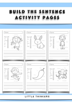 Build A Sentence - Activity Pages