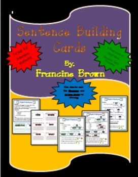 Build-A-Sentence-Cards to Aide in Grammar and Writing with Details!