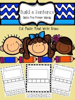 Build A Sentence- Dolch Pre-Primer Words