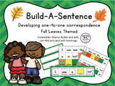 Build-A-Sentence: Fall leaves - We're going on a leaf hunt