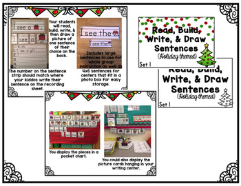 Build A Sentence (Holiday Themed)