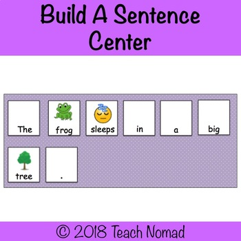 Build A Sentence Literacy Center
