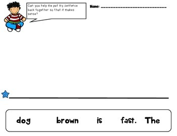 Build - A - Sentence (Primary Language and Comprehension Practice)