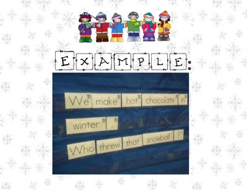 Build A Sentence Writing Center: Winter Edition