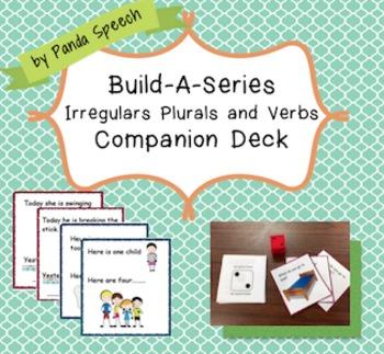 $1.00 Deal Build-A-Series Irregular Past Tense Verbs and Irregular Plurals Deck
