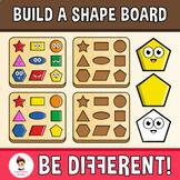 Build A Shape Board Clipart Geometry 2D Emotions Math