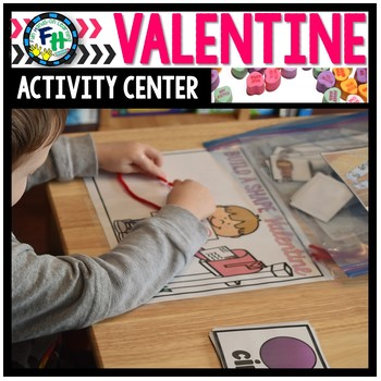 Valentine Activity Center {Build a Shape}