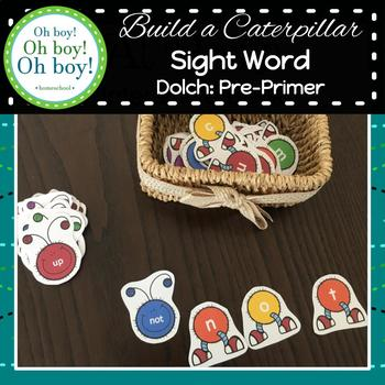 Build A Sight Word Caterpillar: Dolch Pre-Primer