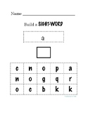 Build-A-Sight-Word! Dolch's PreK Sight Words