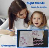 Build A Sight Word - Kindergarten (Distance Learning)