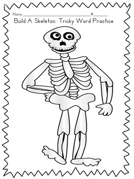 Build A Skeleton Game: Tricky Word Practice