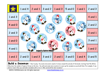 Build A Snowman Addition Game