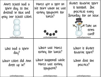 Build-A-Snowman: Artic (/s/-blends) and Listening Comprehension Activity