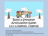 Build A Snowman Articulation Game: s,z,l,r,s-blends, & l-blends