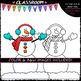 Build A Snowman - Clip Art & B&W Set