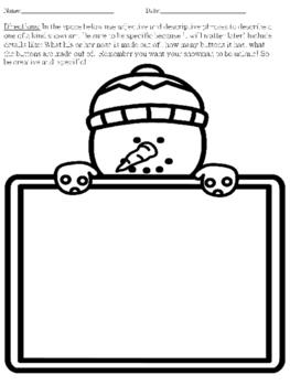 Build- A- Snowman (Descriptive Language and Adjectives)