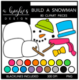 Build A Snowman Clipart {A Hughes Design}