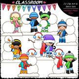 Build A Snowman Kids Clip Art - Sequencing Clip Art