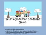 Build-A-Snowman-Language Game