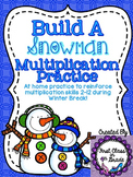 Build-A-Snowman Multiplication Practice for Winter Break