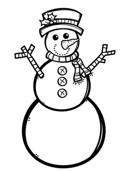 Build-A-Snowman Multiplication Practice for Winter Break