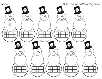Build A Snowman Number Match
