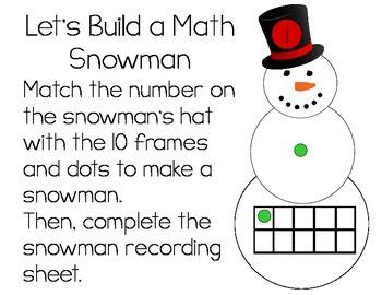 Build A Snowman Number Match
