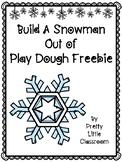 Build A Snowman Play Dough Freebie