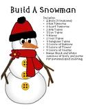 Build A Snowman Winter Craft