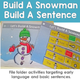 Build A Snowman Puzzle File Folder Activity