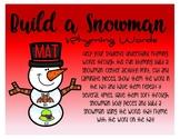 Build A Snowman - Rhyming Words