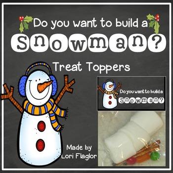 Build A Snowman- Treat Bag Topper