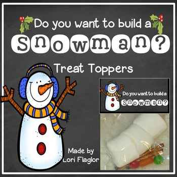Build A Snowman- Treat Bag Topper