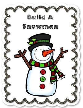 Build A Snowman-Winter/January Teacher & Speech & Language Activity!