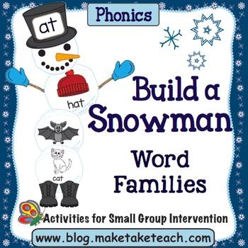 Word Families - Build a Snowman