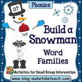 Word Families - Build a Snowman