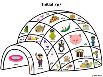 Articulation Winter Craftivity: Build A Speech Igloo!  Early Developing Sounds