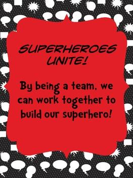 Build A Superhero Whole Class Reward System Red/Black