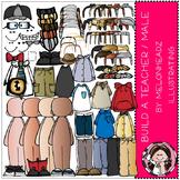 Build A Teacher clip art - Male - COMBO PACK - by Melonheadz