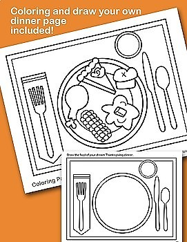 Build A Thanksgiving Dinner Printable