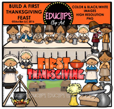 Build A Thanksgiving Feast Clip Art Bundle (Educlips Clipart)