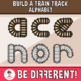 Build A Train Track Alphabet Clipart (Upper And Lower Case Letters)