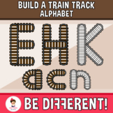 Build A Train Track Alphabet Clipart (Upper And Lower Case