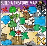 Build A Treasure Map Clip Art Set {Educlips Clipart}