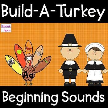 Build-A-Turkey Beginning Sounds Center (Thanksgiving)