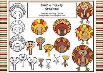 Build-A-Turkey Clip Art