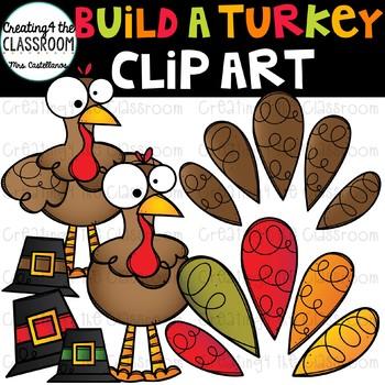 Build-A-Turkey Clip Art {Turkey Clip Art}