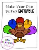 Build A Turkey EDITABLE